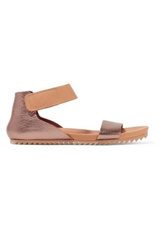 Pedro Garcia Jalia metallic textured-leather sandals