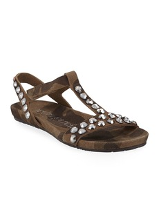 Pedro Garcia Jeril Embellished T-Strap Sandals