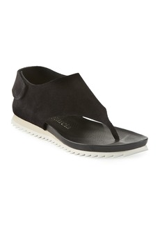 Pedro Garcia Jone Suede Sport Thong Sandals