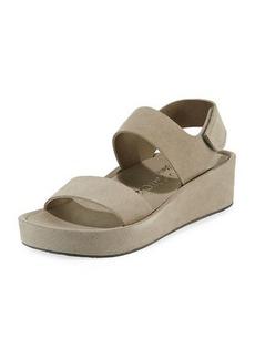 Pedro Garcia Lacey Suede Flatform Sandals