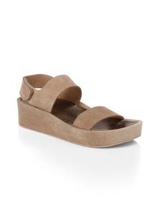 Pedro Garcia Lacey Suede Platform Sandals