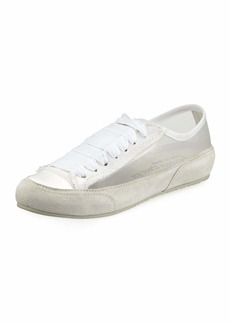 Pedro Garcia Parson Lace-Up Silk Tulle Sneakers