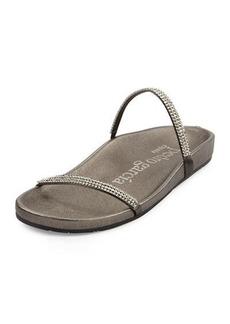 Pedro Garcia Amanda Crystal Flat Slide Sandals