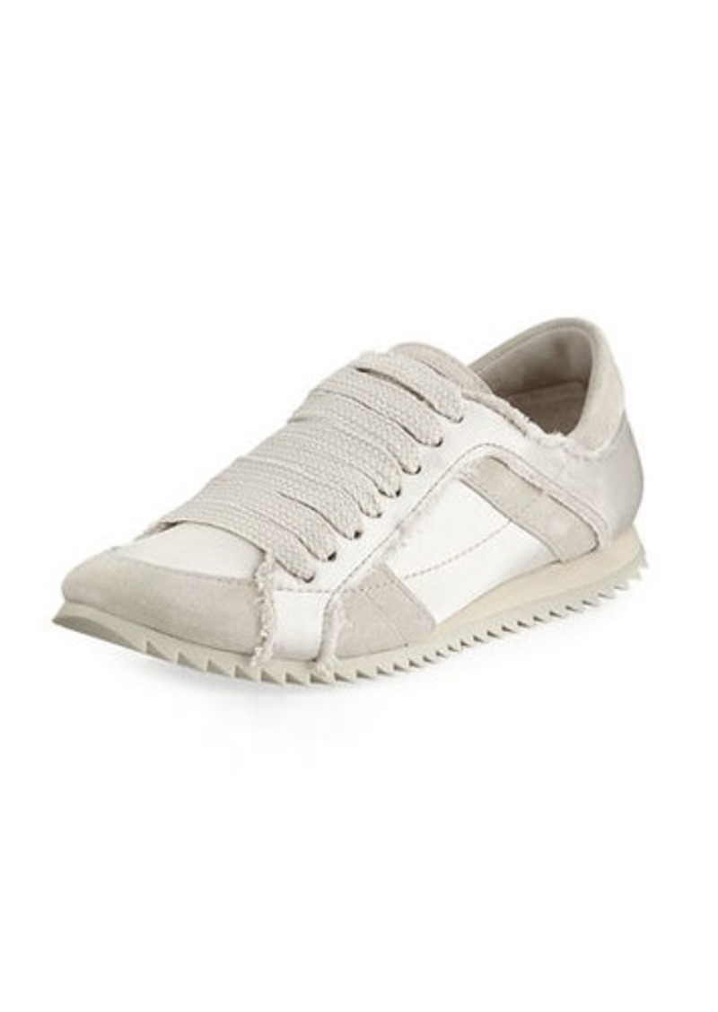 879afcbdaf33 Pedro Garcia Cristina Satin Lace-Up Trainer Sneakers