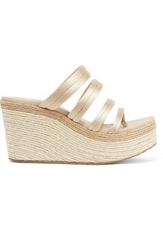 Pedro Garcia Dante satin espadrille wedge sandals