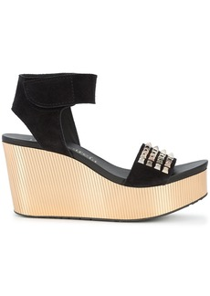 Pedro Garcia Dinora wedge sandals - Black