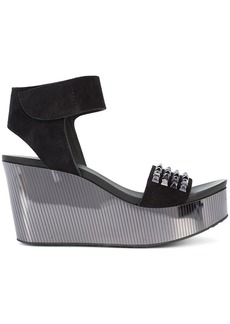 Pedro Garcia Dinora wedged sandals - Black