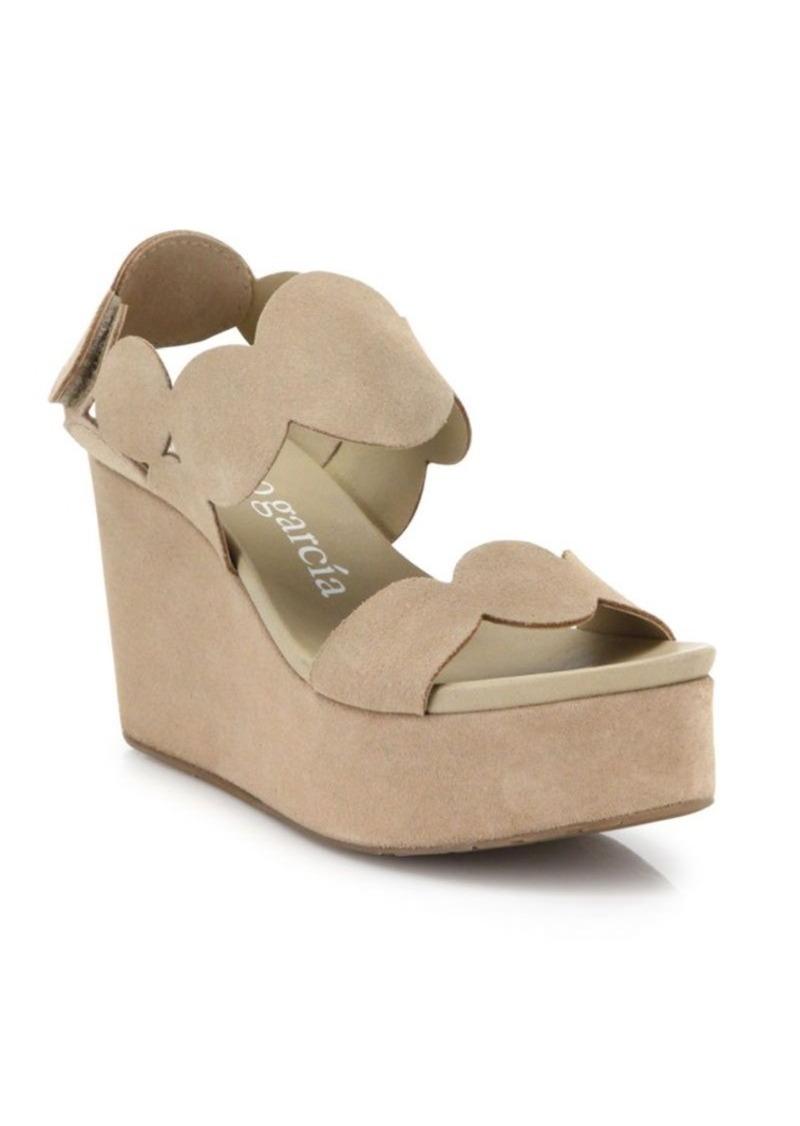 Pedro Garcia Dyane Leather Platform Wedge Sandals