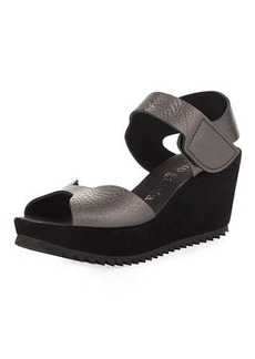 Pedro Garcia Fama Leather Wedge Sandal