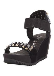Pedro Garcia FORTUNA SANDAL WEDGE WITH ST