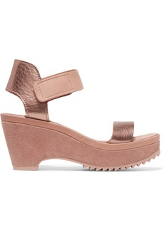 Pedro Garcia Franses metallic leather wedge sandals