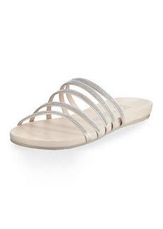 Pedro Garcia Gala Crystal Multi-Strap Flat Sandals