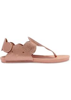 Pedro Garcia Jamee metallic textured-leather sandals