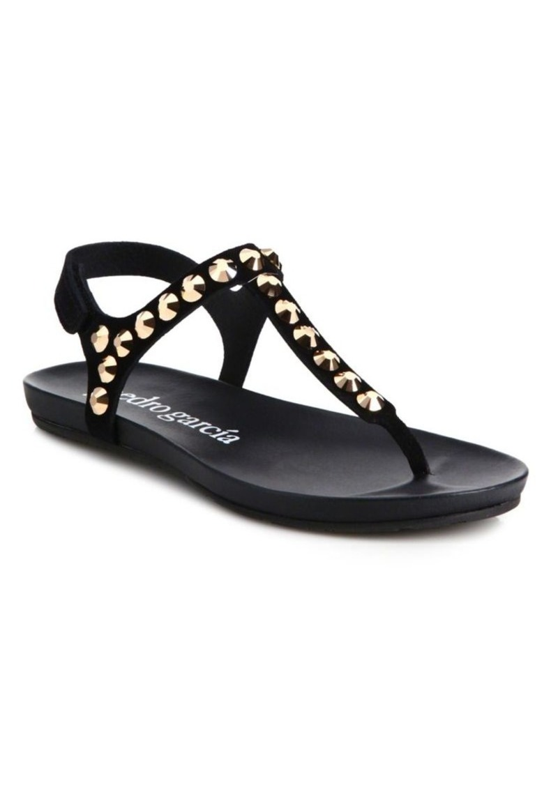 Pedro Garcia Judith Studded Leather Thong Sandals