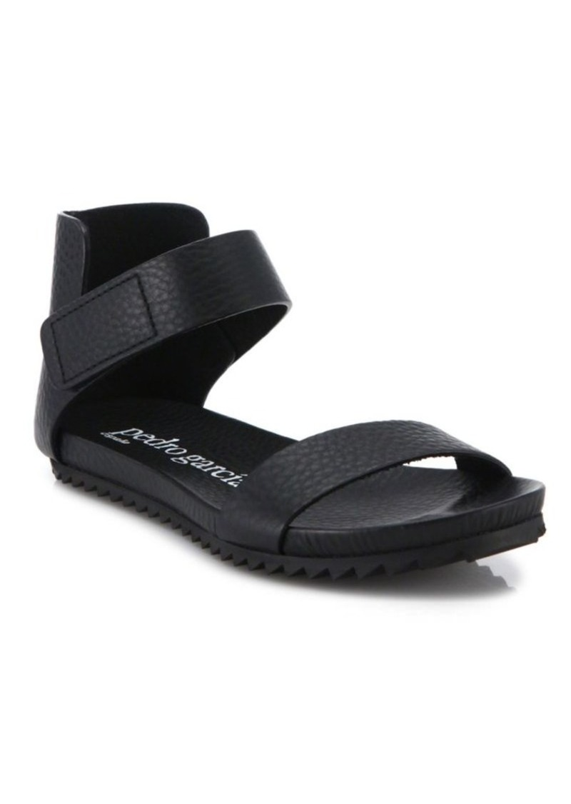Pedro Garcia Junical Leather Flat Sandals