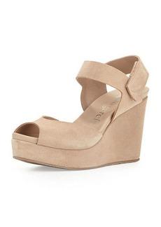 Pedro Garcia Molly Peep-Toe Wedge Sandal