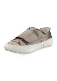 Pedro Garcia Palmira Satin Grip-Strap Sneakers  Truffle