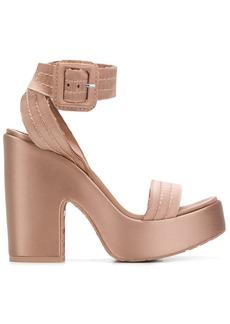 Pedro Garcia platform quilted strappy sandals - Nude & Neutrals