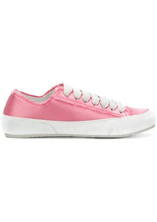 Pedro Garcia raw edge lace-up sneakers - Pink & Purple