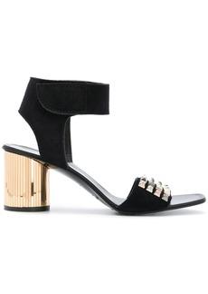 Pedro Garcia studded open toe sandals - Black