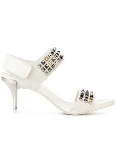 Pedro Garcia studded open toe sandals - White
