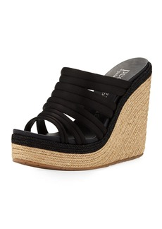 Pedro Garcia Taciana Two-Tone Wedge Sandal