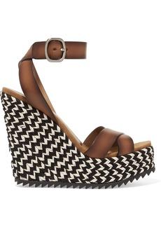 Pedro Garcia Taika leather wedge sandals