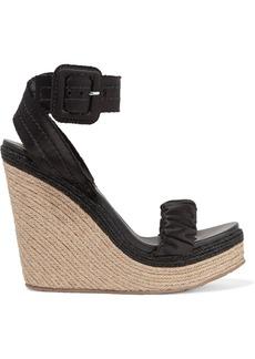 Pedro Garcia Teodora satin espadrille wedge sandals