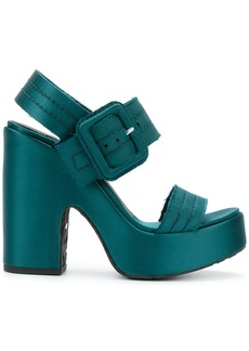 Pedro Garcia Tilly platform sandals - Green