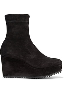 Pedro Garcia Urika stretch-suede wedge ankle boots
