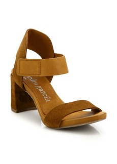 Pedro Garcia Willa Suede Grip-Tape Block Heel Sandals