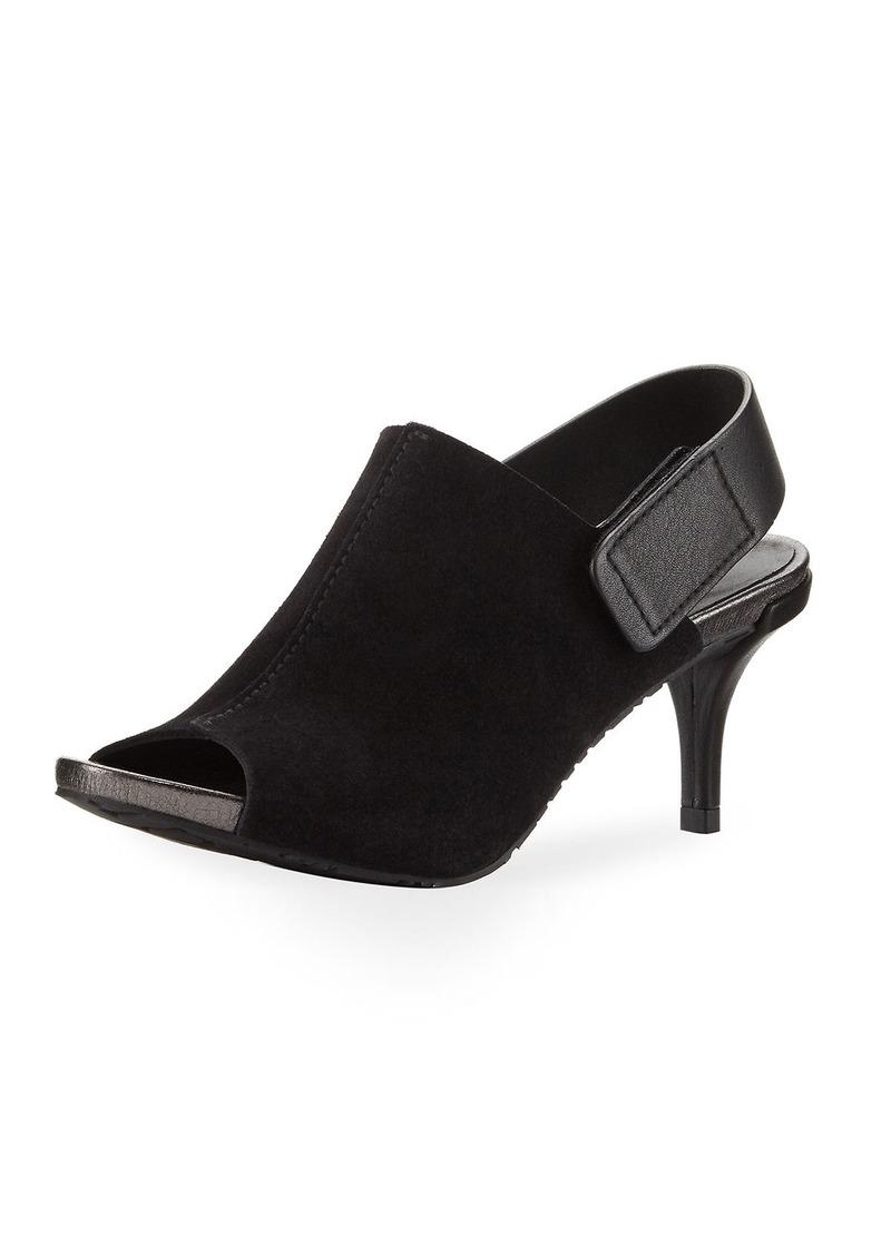 c988630a7297c Pedro Garcia Pedro Garcia Wynter Suede Mid-Heel Peep-Toe Sandal   Shoes
