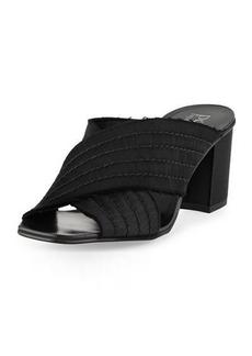 Pedro Garcia Xail Satin Crisscross Slide Sandal