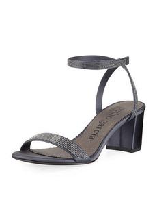 Pedro Garcia Xela Crystal Block-Heel Sandal
