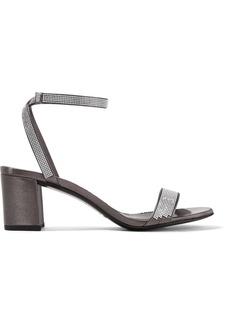 Pedro Garcia Xela crystal-embellished satin sandals