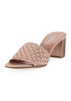 Pedro Garcia Xian Woven Satin Slide Sandal