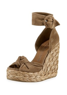 Pedro Garcia Tacy Suede Wedge Sandals