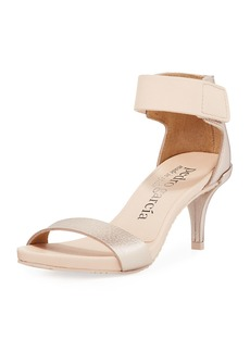 Pedro Garcia Winka Metallic-Leather Sandals