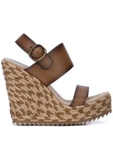 Pedro Garcia woven wedge sandals