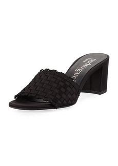Pedro Garcia Xian Woven Satin Slide Sandals
