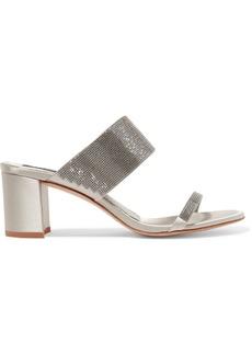 Pedro Garcia Xina Crystal-embellished Satin Sandals