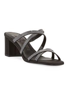 Pedro Garcia Xonia Crystal Crisscross Slide Sandals