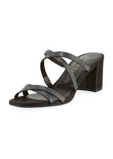 Pedro Garcia Xonia Crystal Crisscross Slide Sandals