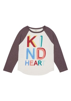 Peek...Aren't You Curious Peek Aren't You Curious Caspian Kind Heart Baseball T-Shirt (Toddler, Little Boy & Big Boy)