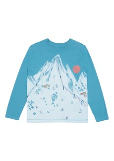 Peek...Aren't You Curious Peek Aren't You Curious Cole Ski Resort Long Sleeve Graphic T-Shirt (Toddler Boys, Little Boys & Big Boys)