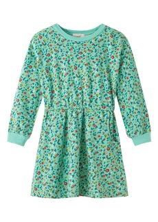 Peek...Aren't You Curious Peek Aren't You Curious Floral Long Sleeve French Terry Dress (Toddler, Little Girl & Big Girl)