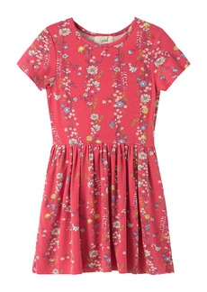 Peek...Aren't You Curious Peek Aren't You Curious Floral Print Jersey Dress (Toddler, Little Girl & Big Girl)