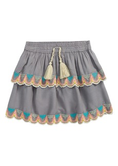 Peek...Aren't You Curious Peek Aren't You Curious Kids' Embroidered Ruffle Skirt (Toddler, Little Girl & Big Girl)