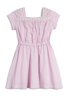 Peek...Aren't You Curious Peek Aren't You Curious Kids' Embroidered Square Neck Dress (Little Girl & Big Girl)