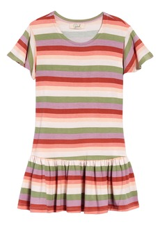 Peek...Aren't You Curious Peek Aren't You Curious Kids' Stripe Jersey Drop Waist Dress (Toddler, Little Girl & Big Girl)